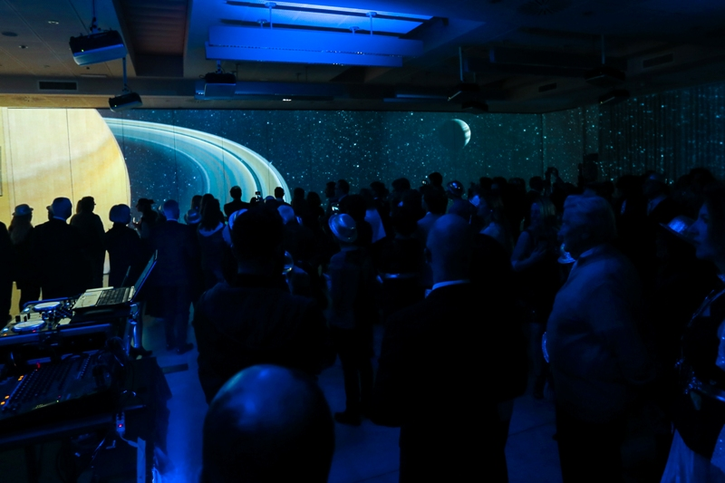 IMG_8639 A space event in Milan to inaugurate the only immersive Italian room